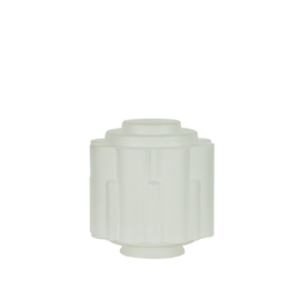 glazen bol model Zuil gesatineerd d-20cm h-18cm gr-11cm nr 489.21