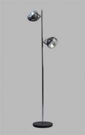 Vloerlamp Head 2L h161cm zwart chrome nr 05-SP8250-1130