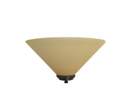 Wandlamp dakkap 30cm met ophanging mat champagne glas nr H30.59 compl.
