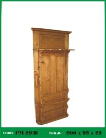 Grenen wandkapstok nieuw gemaakt van oud hout nr: 29/b