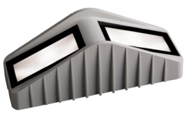 buitenlamp vloer of grond ALU grijs LED 2x3W IP65 nr 460523