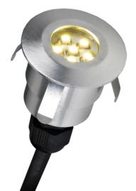Buitenspot grondspot 12V ALU RVS LED 0,6W 2jr garantie nr 8024