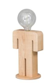 Tafellamp Adam serie family hout 1xE27 h 24cm br 16cm nr 05-TL3288-73
