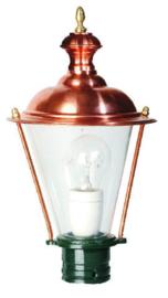 Buitenlamp lichtkop h-34cm koper serie Nuova nr 1530