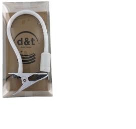 Klemspot LED 1x 3W LET OP GRIJS met flex arm en grote klem nr 05-KL1286-36