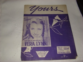 Muziekblad Yours  Vera Lynn