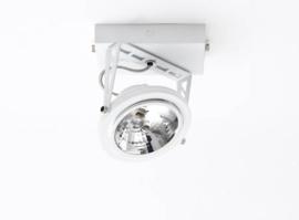 Lofar opbouw spot 1-L wit SHOW met osram lichtbron 05-SP1277-31S