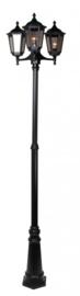 Buitenlamp mast h-255 3-lichts serie Cartella II in 2 kleuren leverbaar nr: FL2066