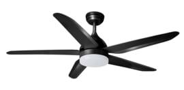 Plafondventilator nr.4 5-blads ventilator zwart d-132cm afstandbed. nr. 05-V9803-30