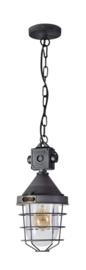 Industriële hanglamp h-140cm model Bond donker staal 1xE27 nr 05-HL4363-17