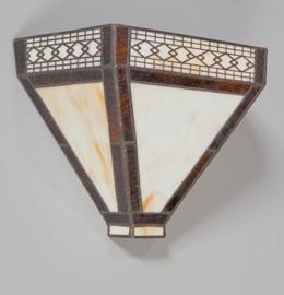 Tiffany wandlamp Napoli drie vlakken 05-WL1256