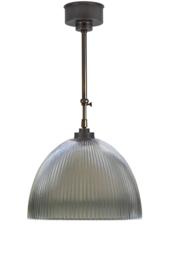 Schuifstang 2x25cm midden bruin ribbel helder koepel 34 nr 1Sb-1134.11