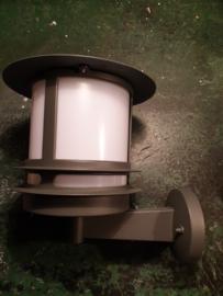 Buitenlamp wand ALU antraciet 2jr garantie E27 h30,2cm nr 062