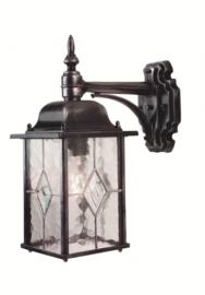 Buitenlamp wand neer serie Wexford ALU zwart/zilver nr 2081