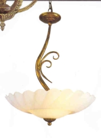 Schaallamp kasteelserie 3-lichts met geschulpte schaal nr:20393/3B