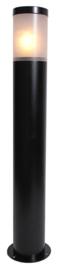 Buitenlamp paal h-75 serie Lumare opaal/helder zwart nr: 332