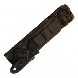 Houten wandhanger met 1-haak +/-23cm oud hout ijzeren haak nr 7903