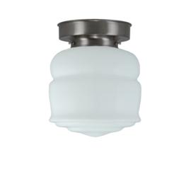 Plafonniere glazen bol Button 18cm opaal met mat nikkel ophanging nr 7P1-461.00