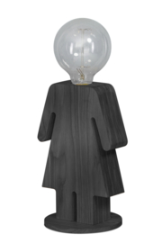 Tafellamp Eve GREY serie family hout 1xE27 h 24cm br 16cm nr 05-TL3289-99