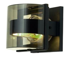 Buitenlamp wand h21cm serie Geometry Alu grafiet E27 nr 31-1838S