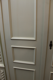 Garderobe kast 2-deurs met hang en leg gedeelte white wash demontabel