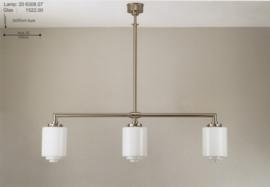 T-lamp 3-L br80cm mat nikkel met opaal wit getrapte bol nr 206308.07