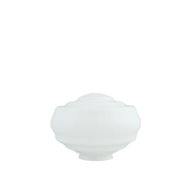Glazen bol model Tabakspot opaal wit d-23cm h-17cm gr-10cm nr 479.00