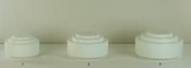 Glazen bol model trapkap medium opaal wit nr: 430.00