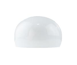glazen kap 3/4 bol d24cm h14cm zonder gat opaal nr 2020.00