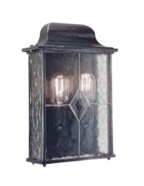 Buitenlamp wand half serie Mezza zwartzilver h-34cm nr: 2088