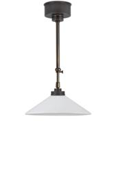 Schuifstang 2x50cm brons kleur opaal dakkap plat 30 nr 2Sb-29.00