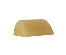 Mondgeblazen buroglas voor notaris bureaulamp midden champagne mat nr 420.59