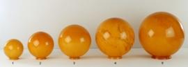 Glazen bol rond gemarmerd diameter 20cm nr2 op foto 2000.20