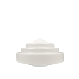 glazen bol model Trappunt opaal wit d-25cm h-16cm gr-11cm nr 571.00