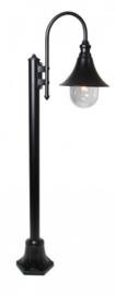 Buitenlamp mast h-136cm serie Calice II zwart E27 nr: FL700-10