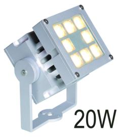 Buitenspot wandspot Spotpro 8-bundels ALU-grijs LED 10W nr 10-354620