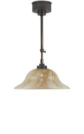 Schuifstang 2x25cm brons licht gemarmerde hoedkap 40 nr 1Sb-540.60