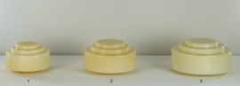 Glazen bol model trapkap small nr1 champagne kleur nr: 425.50