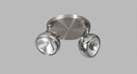 Plafondspot Head 2L h20cm staalkleur nr 05-SP4250-1117
