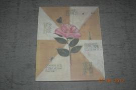 Prent roze bloem