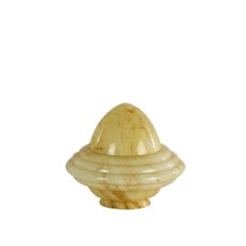 Glazen kap bolvormig model oliepot medium (2) nr: 250.60 gemarmerd