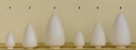 Glazen kap bolvormig model Traan/Druppel klein (1) nr: 292.00 opaal