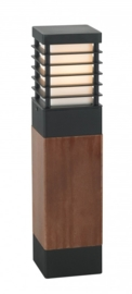 Buitenlamp serie Selham staand 49cm hout/zwart nr: 3265