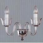 Boheems kristal helder glazen wandlamp nr 21 5071 002 0601