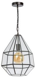 Hanglamp Showmodel serie Fame br39cm en h128cm metaal en glas E27 nr 05-HL4493-43S