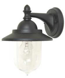 Buitenlamp wand aluminium zwart E27 2jr garantie nr 21079