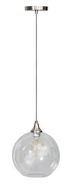 Hanglamp kristal helder glas 1 bol staal nr 05-HL4409-60