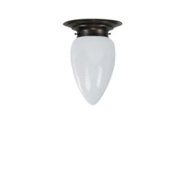 Plafonniere midden bruin opaal druppel-traan bol S. nr 2P2-292.00