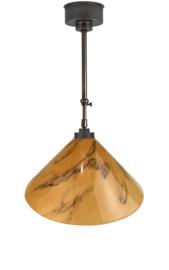 Schuifstang 2x50cm brons licht gemarmerde dakkap 40 nr 2Sb-40.60
