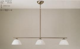 T-lamp 3-d 90cm breed mat nikkel met opaal witte calimero kap nr 50927.07